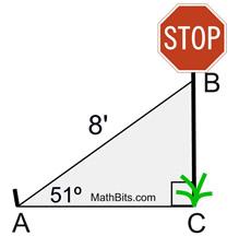 Trigonometry Word Problems Practice - MathBitsNotebook(Geo - CCSS Math)